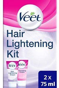 Veet Hair Lightening Cream for Face and Body, 2 x 75 ml